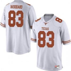 Men Texas Longhorns Al'Vonte Woodard #83 Replica White Football Jersey 278793-889