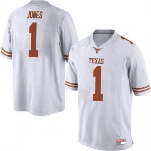 Men Texas Longhorns Andrew Jones #1 Game White Football Jersey 421963-665