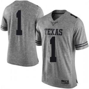 Men Texas Longhorns Andrew Jones #1 Limited Gray Football Jersey 774445-311
