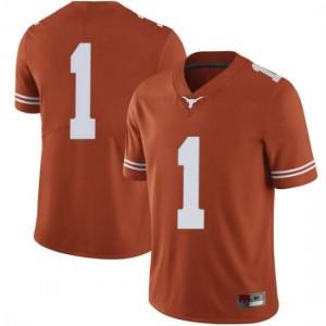 Men Texas Longhorns Andrew Jones #1 Limited Orange Football Jersey 537664-227