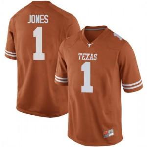 Men Texas Longhorns Andrew Jones #1 Replica Orange Football Jersey 393778-483
