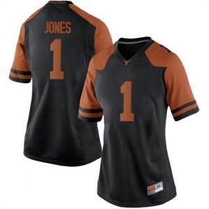 Women Texas Longhorns Andrew Jones #1 Game Black Football Jersey 837358-814