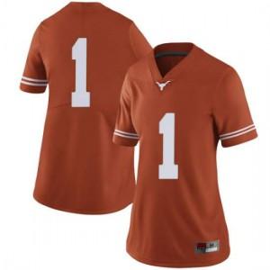 Women Texas Longhorns Andrew Jones #1 Limited Orange Football Jersey 186899-988
