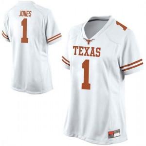 Women Texas Longhorns Andrew Jones #1 Replica White Football Jersey 653641-838