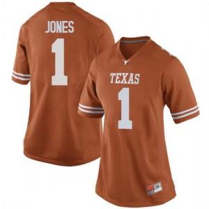 Women Texas Longhorns Andrew Jones #1 Replica Orange Football Jersey 283077-330