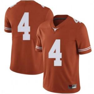 Men Texas Longhorns Anthony Cook #4 Limited Orange Football Jersey 983637-613