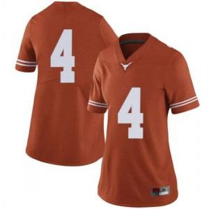 Women Texas Longhorns Anthony Cook #4 Limited Orange Football Jersey 792836-379