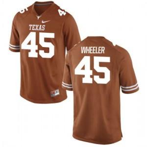Women Texas Longhorns Anthony Wheeler #45 Authentic Tex Orange Football Jersey 543434-490