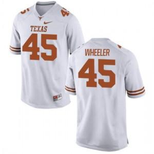Women Texas Longhorns Anthony Wheeler #45 Authentic White Football Jersey 313930-353