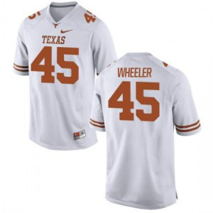 Women Texas Longhorns Anthony Wheeler #45 Limited White Football Jersey 986213-439
