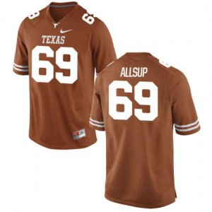 Men Texas Longhorns Austin Allsup #69 Game Tex Orange Football Jersey 885608-406