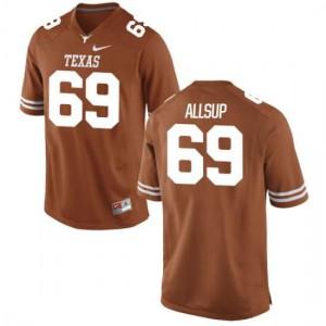 Women Texas Longhorns Austin Allsup #69 Authentic Tex Orange Football Jersey 559745-584