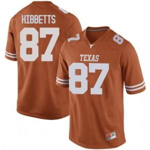 Men Texas Longhorns Austin Hibbetts #87 Game Orange Football Jersey 793827-462