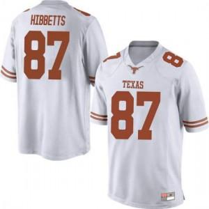 Men Texas Longhorns Austin Hibbetts #87 Game White Football Jersey 164333-907