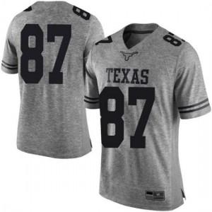 Men Texas Longhorns Austin Hibbetts #87 Limited Gray Football Jersey 730539-953
