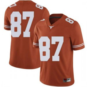 Men Texas Longhorns Austin Hibbetts #87 Limited Orange Football Jersey 829232-833