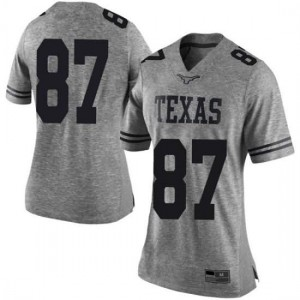 Women Texas Longhorns Austin Hibbetts #87 Limited Gray Football Jersey 422622-556