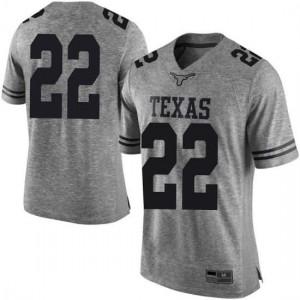 Men Texas Longhorns Blake Nevins #22 Limited Gray Football Jersey 966398-402