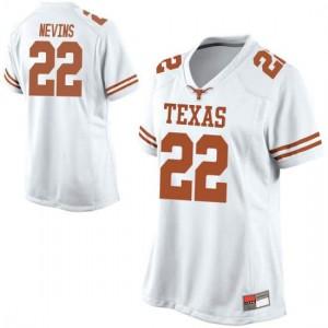 Women Texas Longhorns Blake Nevins #22 Game White Football Jersey 536219-807