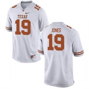 Youth Texas Longhorns Brandon Jones #19 Authentic White Football Jersey 568171-933
