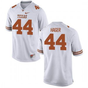 Men Texas Longhorns Breckyn Hager #44 Authentic White Football Jersey 950398-569