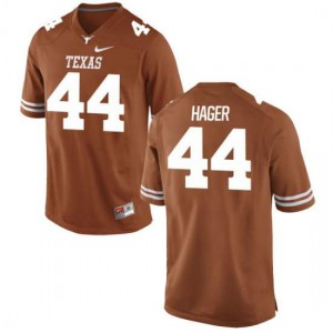 Men Texas Longhorns Breckyn Hager #44 Replica Tex Orange Football Jersey 366140-529