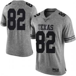 Men Texas Longhorns Brennan Eagles #82 Limited Gray Football Jersey 721521-577
