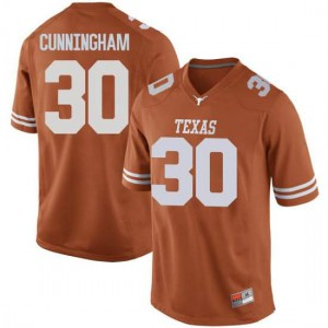 Men Texas Longhorns Brock Cunningham #30 Replica Orange Football Jersey 254597-561