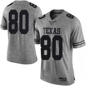 Men Texas Longhorns Cade Brewer #80 Limited Gray Football Jersey 234250-835