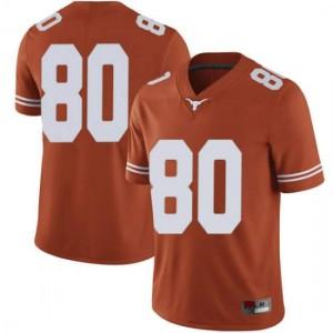 Men Texas Longhorns Cade Brewer #80 Limited Orange Football Jersey 585178-563
