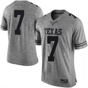 Men Texas Longhorns Caden Sterns #7 Limited Gray Football Jersey 881596-428