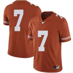 Men Texas Longhorns Caden Sterns #7 Limited Orange Football Jersey 883947-944