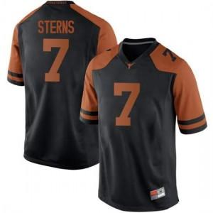 Men Texas Longhorns Caden Sterns #7 Replica Black Football Jersey 352031-421