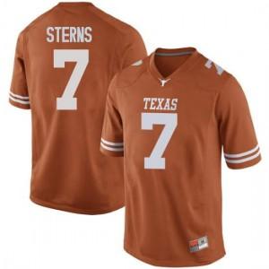 Men Texas Longhorns Caden Sterns #7 Replica Orange Football Jersey 707567-962