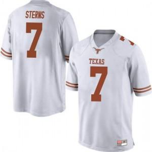 Men Texas Longhorns Caden Sterns #7 Replica White Football Jersey 711401-390