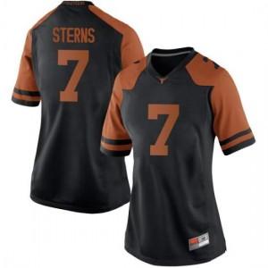 Women Texas Longhorns Caden Sterns #7 Game Black Football Jersey 744417-610