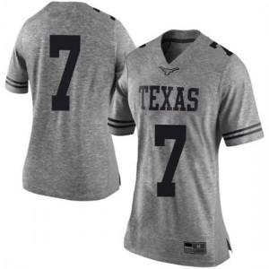 Women Texas Longhorns Caden Sterns #7 Limited Gray Football Jersey 134773-291