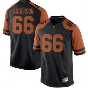 Men Texas Longhorns Calvin Anderson #66 Replica Black Football Jersey 646279-797
