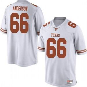 Men Texas Longhorns Calvin Anderson #66 Replica White Football Jersey 286468-791