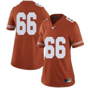 Women Texas Longhorns Calvin Anderson #66 Limited Orange Football Jersey 382429-569