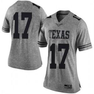 Women Texas Longhorns Cameron Dicker #17 Limited Gray Football Jersey 285902-139