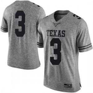Men Texas Longhorns Cameron Rising #3 Limited Gray Football Jersey 559128-627