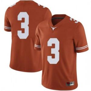 Men Texas Longhorns Cameron Rising #3 Limited Orange Football Jersey 308318-921