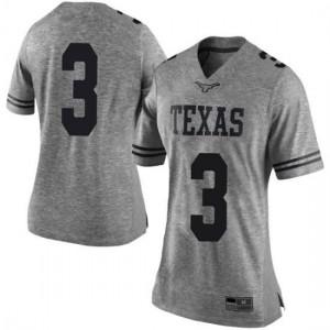 Women Texas Longhorns Cameron Rising #3 Limited Gray Football Jersey 486559-446