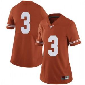 Women Texas Longhorns Cameron Rising #3 Limited Orange Football Jersey 387476-428