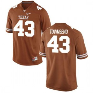 Men Texas Longhorns Cameron Townsend #43 Authentic Tex Orange Football Jersey 453954-809