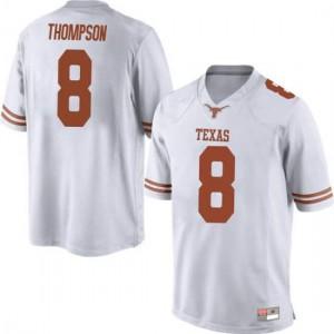 Men Texas Longhorns Casey Thompson #8 Game White Football Jersey 252014-757