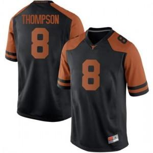 Men Texas Longhorns Casey Thompson #8 Replica Black Football Jersey 555885-890