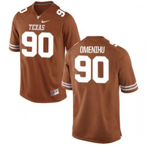Men Texas Longhorns Charles Omenihu #90 Authentic Tex Orange Football Jersey 971491-515