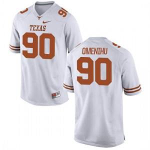 Youth Texas Longhorns Charles Omenihu #90 Authentic White Football Jersey 177998-575
